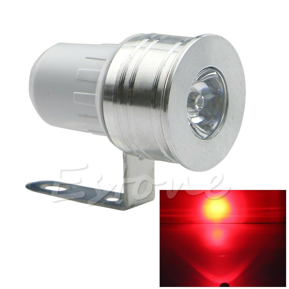 12v red led day spot light motorcycle car truck van bike boat off road ebay. Black Bedroom Furniture Sets. Home Design Ideas