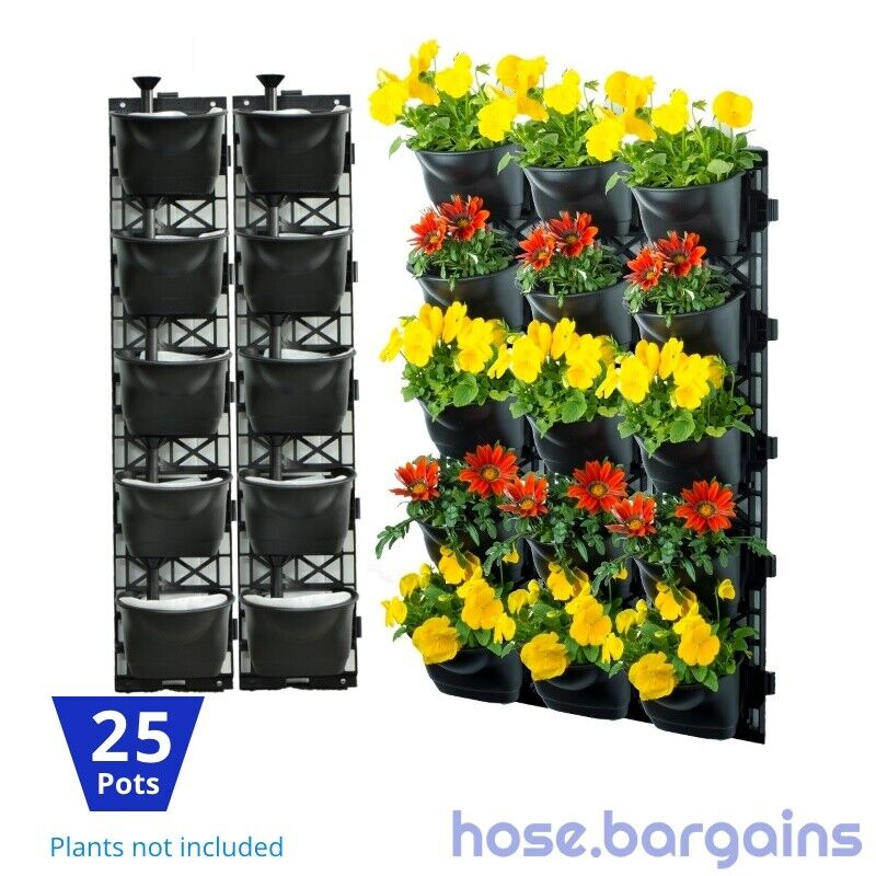 Vertical Garden Kit 25 Pots Green Wall Hanging Planter