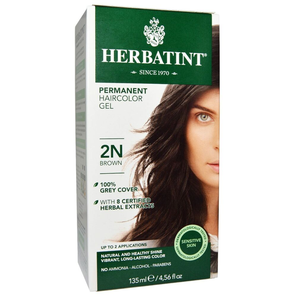 herbatint permanent herbal haircolor gel 2n brown ebay. Black Bedroom Furniture Sets. Home Design Ideas