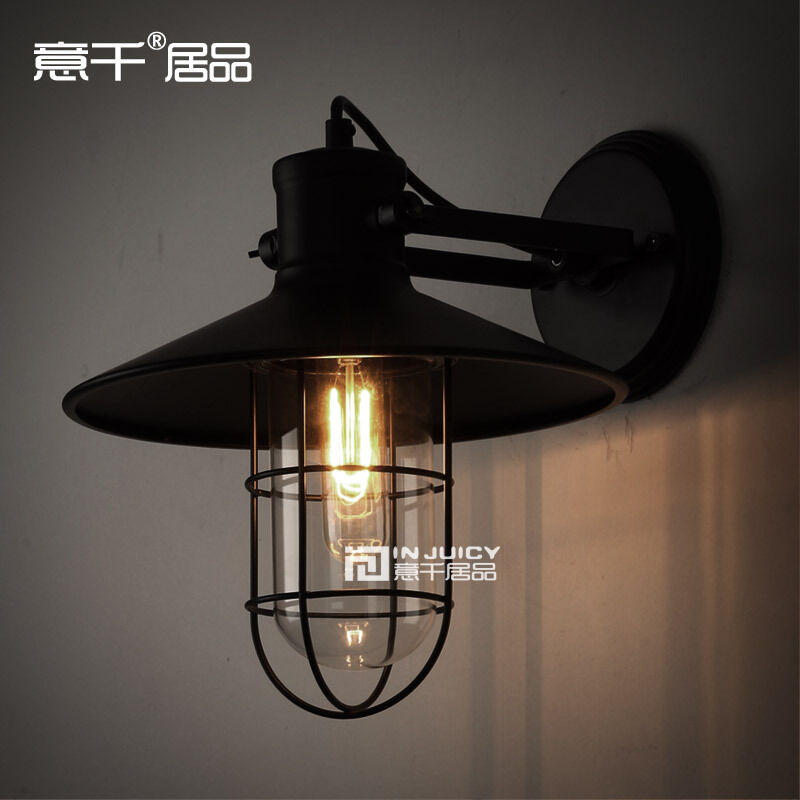 Edison Vintage Ceiling or Wall lamp Two way Use Loft Glass Balcony Light Outdoor eBay