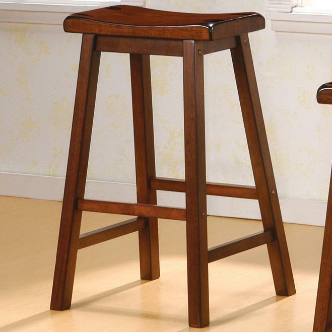 Heavy Duty 29 Quot Saddle Seat Bar Stool In A Chestnut Finish