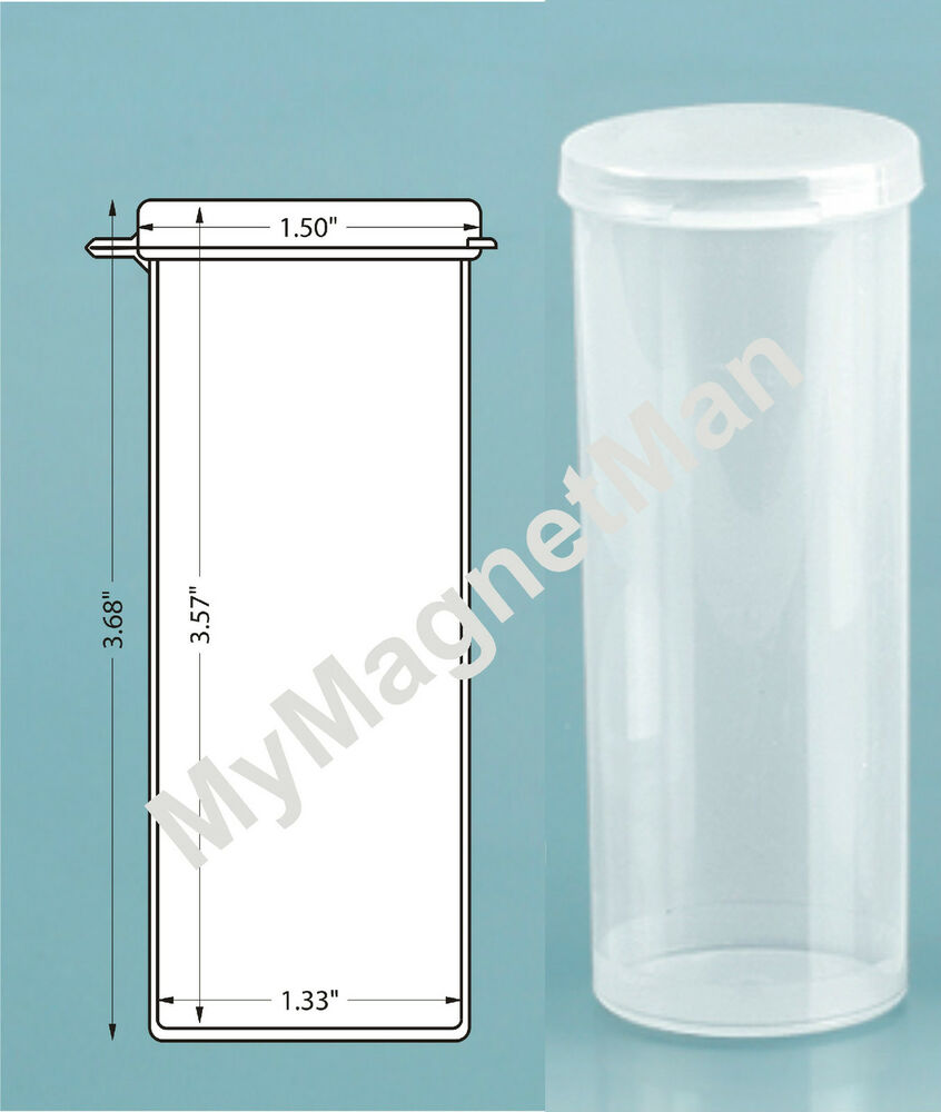 Plastic Craft Storage Vial W Hinged Lid 2 5 Ounce