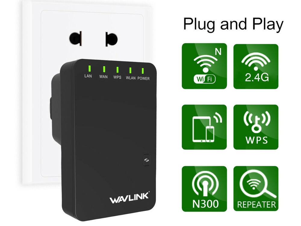wavlink 300mbps wifi repeater wireless n network signal extender booster ebay. Black Bedroom Furniture Sets. Home Design Ideas