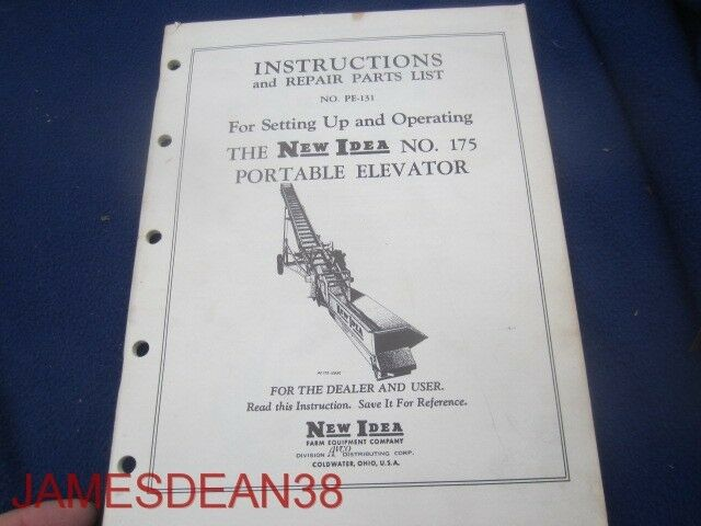 s l1000 new idea no 175 portable elevator operators repair parts manual