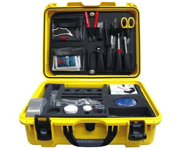 High Voltage Cable Splicing Tools : Basic fiber optic cable termination splicing tool kit w