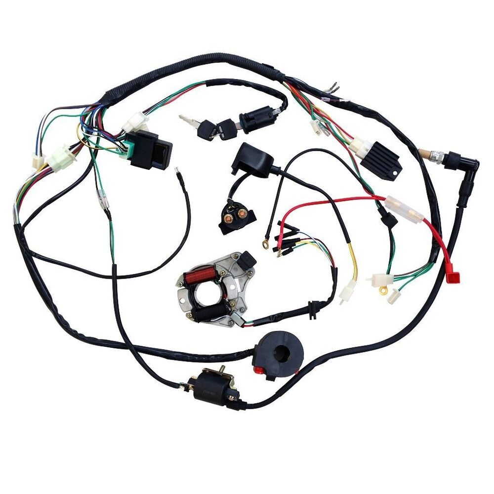 full electrics wiring harness coil cdi 50cc 70 110cc atv quad bike full electrics wiring harness coil cdi 50cc 70 110cc atv quad bike buggy go kart
