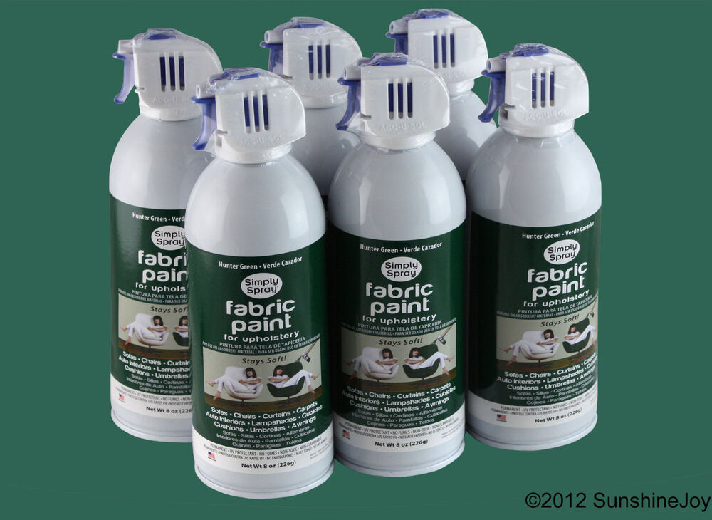 upholstery fabric spray paint 6 pack hunter green auto simply spray ebay. Black Bedroom Furniture Sets. Home Design Ideas