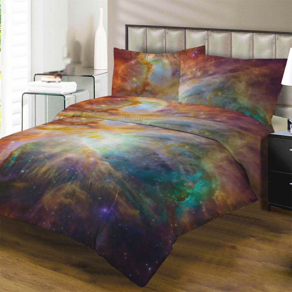 3d american twin queen king size galaxy duvet cover. Black Bedroom Furniture Sets. Home Design Ideas