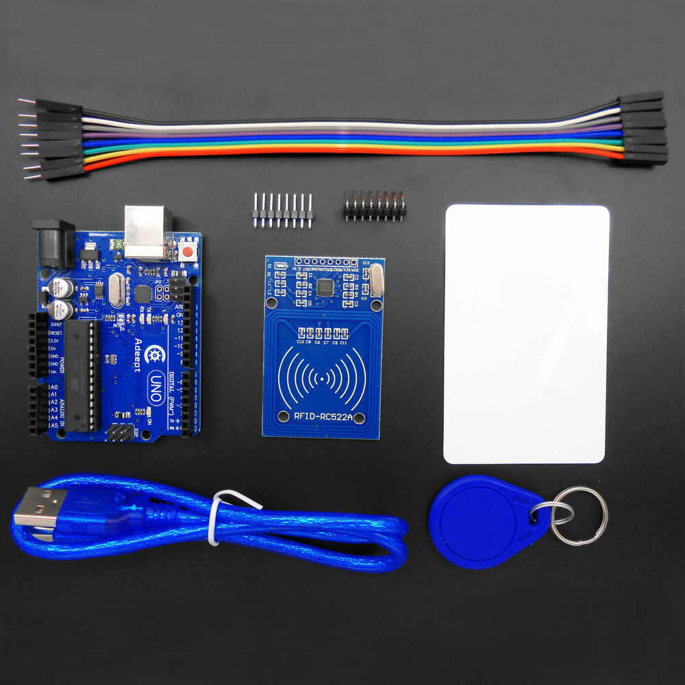 Adeept new arduino uno r with rc rfid reader kit user