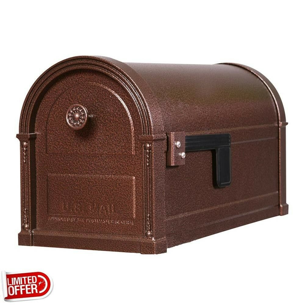 Sale Gibraltar Mailboxes High Grove Copper Vein Steel Post
