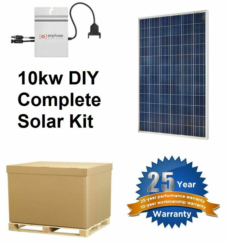 Solar Panel Kit With Micro Inverter 10000w 10kw Complete