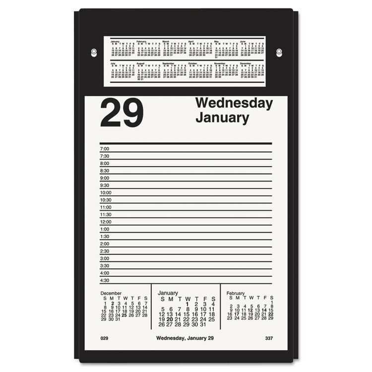 Calendar Refill : Quot at a glance tear off daily desk calendar refill w h