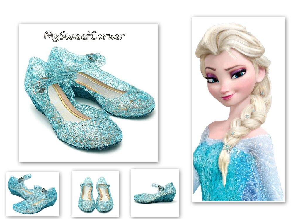 frozen eisk nigin schuhe blau kost m anna elsa sandalen 28 29 schneeflocke ebay. Black Bedroom Furniture Sets. Home Design Ideas