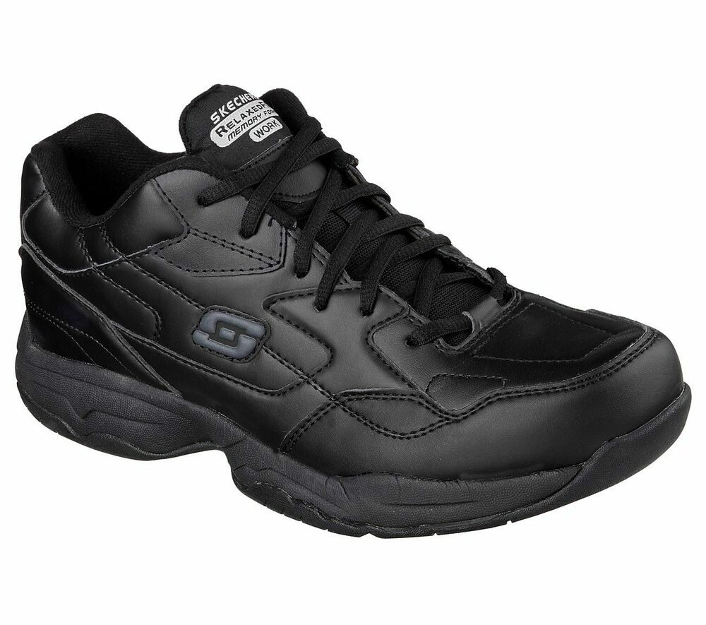 77032 blk skechers felton altair s work non slip shoes