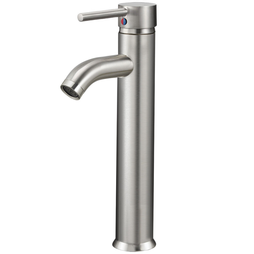 brushed nickel bathroom fixtures vessel brushed nickel bathroom sink faucet one handle 17542
