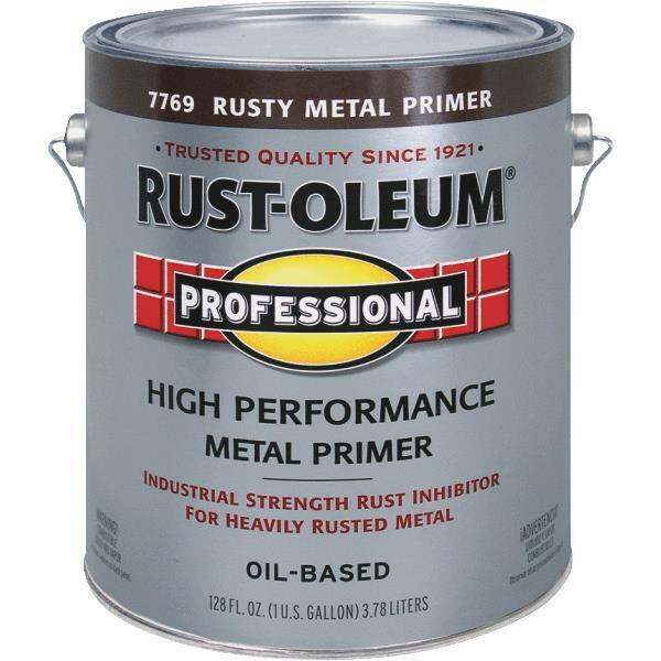 1 gal rustoleum stops rust red brown rusty metal paint primer 7769 402 ebay for Rustoleum exterior metal paint