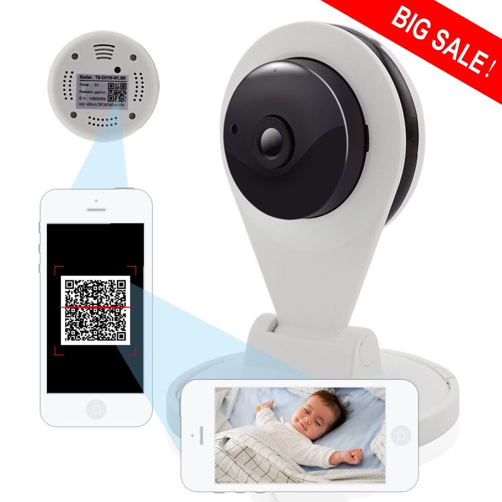 wireless security camera wifi baby monitor 720p hd ir night vision remote vie. Black Bedroom Furniture Sets. Home Design Ideas