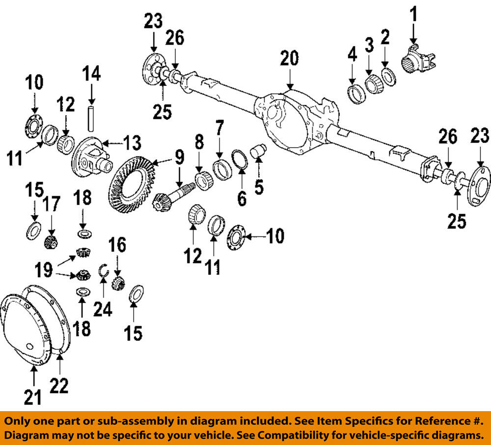 Chrysler Oem Rear Differential