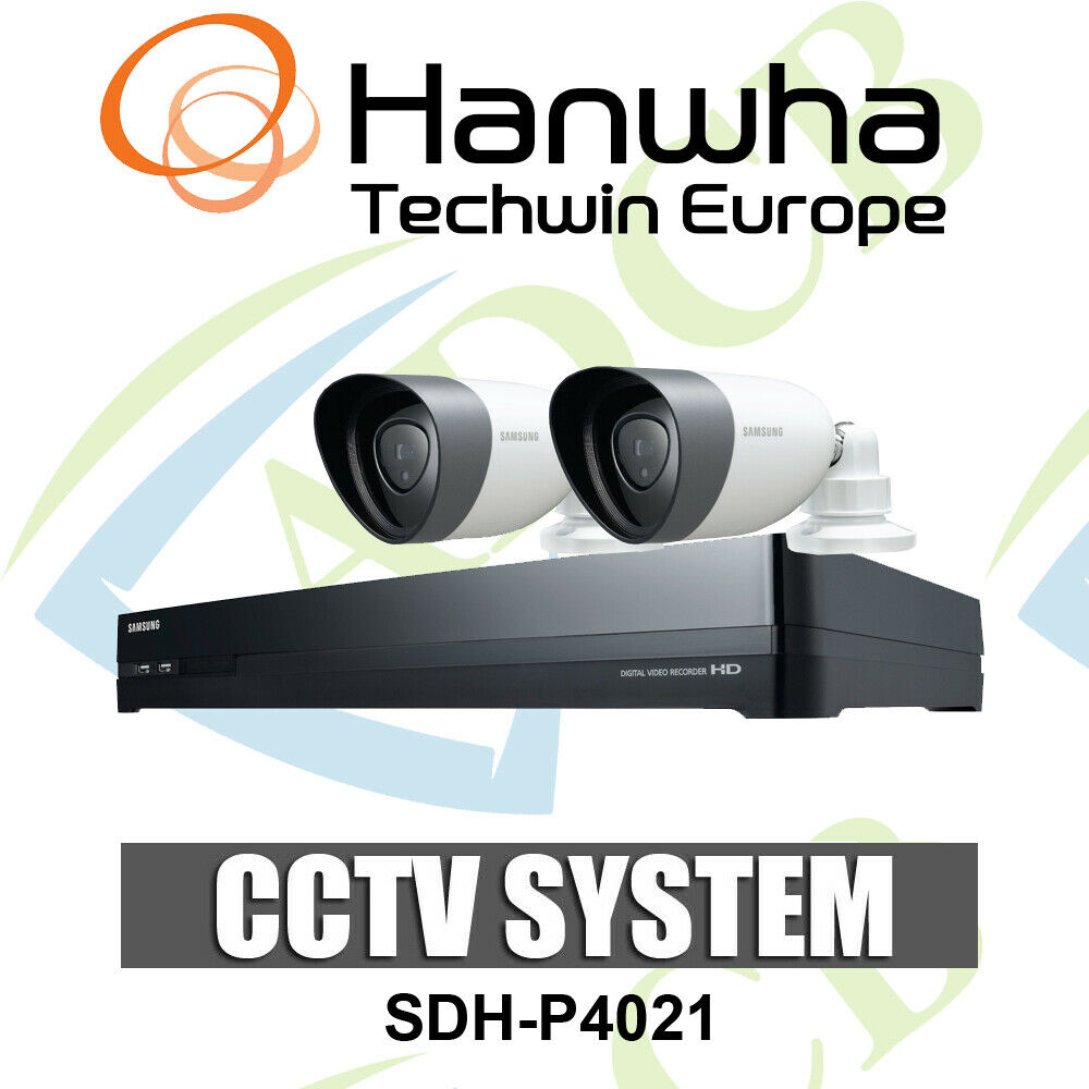 samsung 8 channel cctv kit dvr 2 bullet cameras outdoor home security set 2tb 6950207036453 ebay. Black Bedroom Furniture Sets. Home Design Ideas