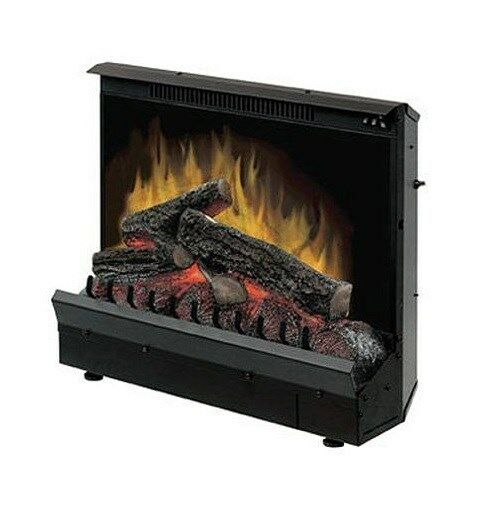 "Dimplex 23"" Electric Lighted Fireplace Insert Heater"