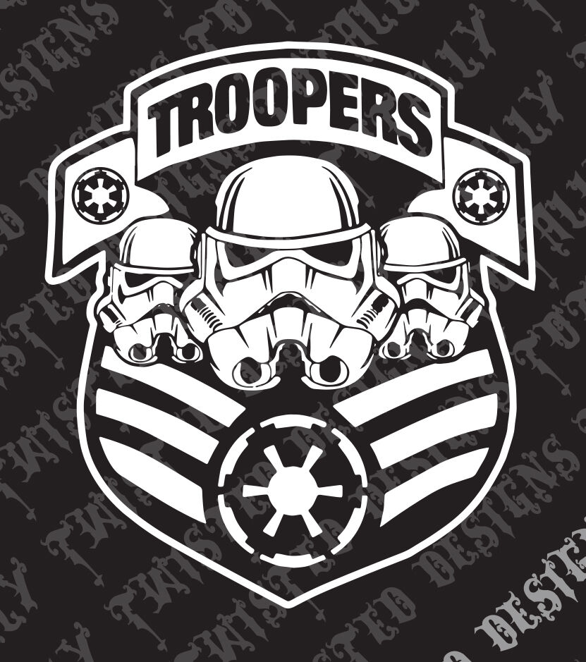 star wars storm trooper car truck vinyl decal sticker. Black Bedroom Furniture Sets. Home Design Ideas