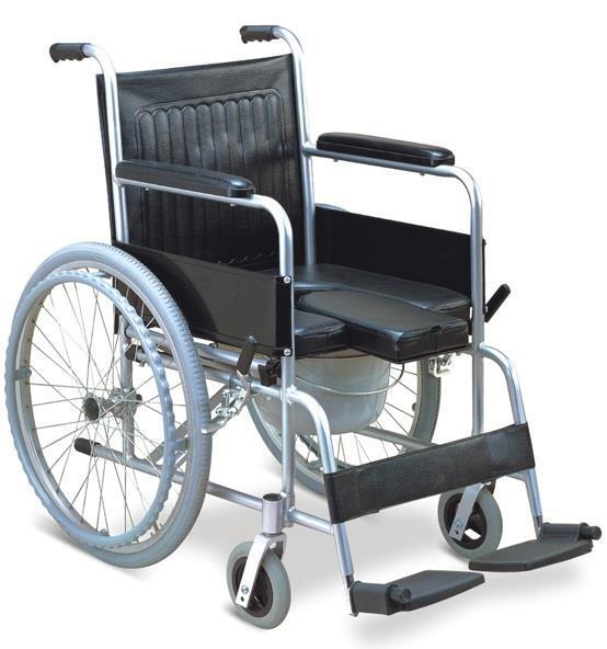 Aluminum Commode Wheelchair Shower Wheelchair And Self Transporting Wheelcha