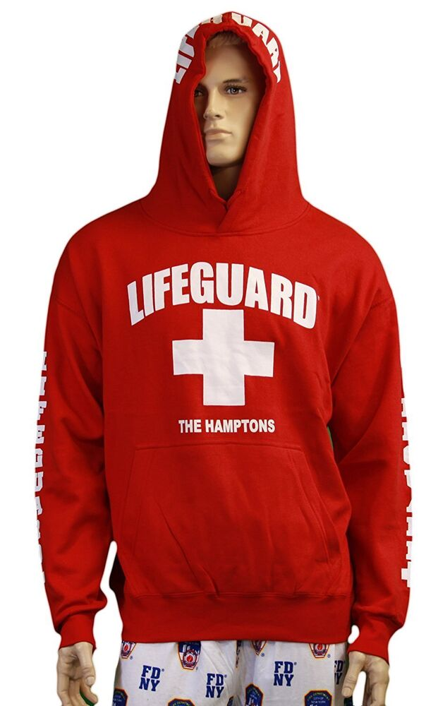 Lifeguard Kids The Hamptons NY Life Guard Sweatshirt Red | EBay