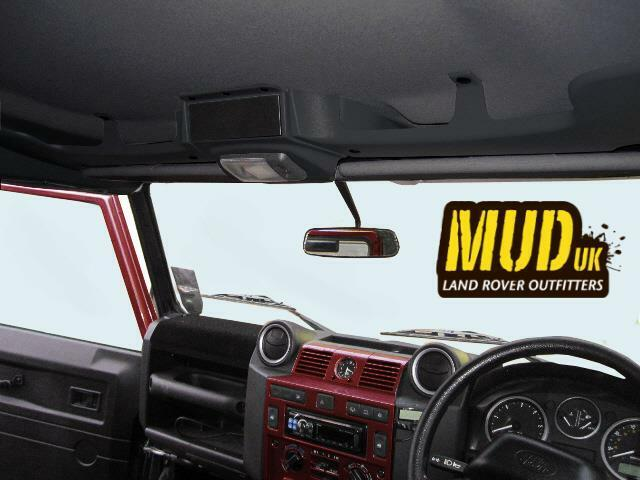 Mud Land Rover Defender Storage And Single Din Roof