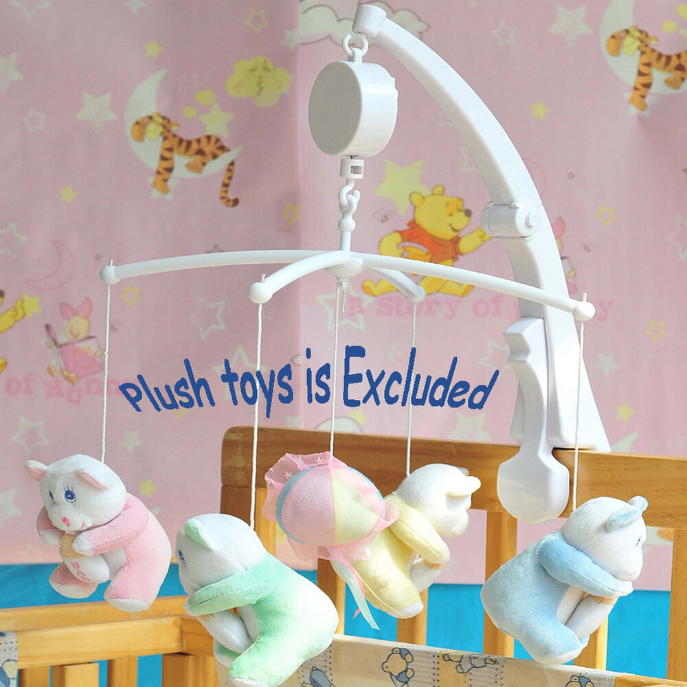 rotary baby mobile crib bed toy clockwork movement music box kids bedding toy v ebay. Black Bedroom Furniture Sets. Home Design Ideas