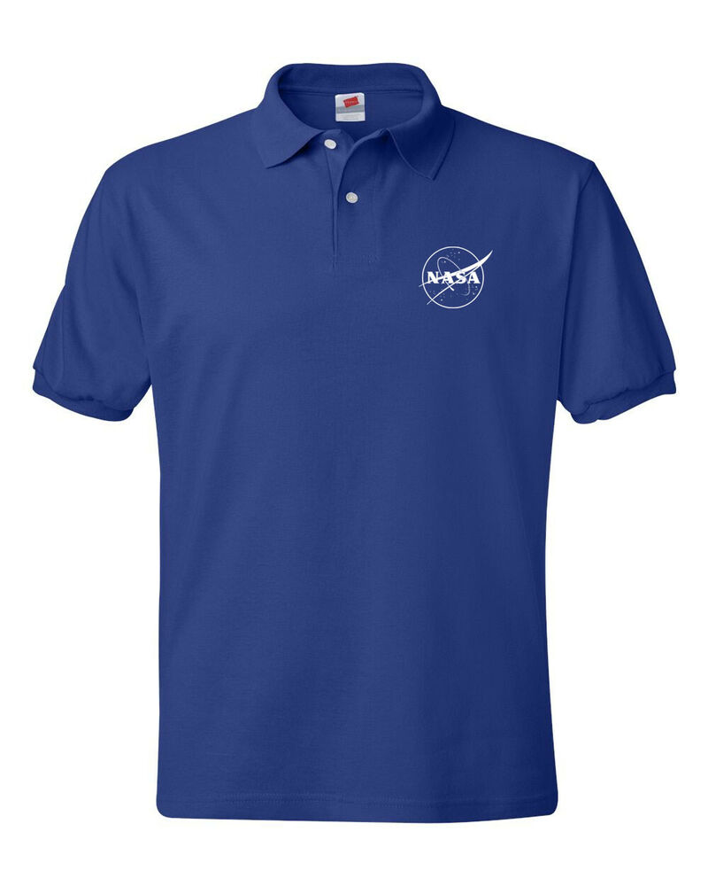 nasa logo retro old school polo shirt s 5xl ebay
