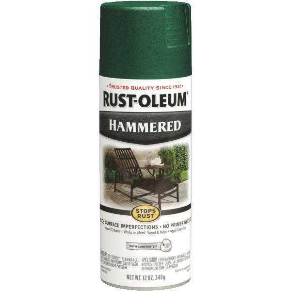 6 pk 12 oz deep green rust oleum metal hammered finish spray paint 7211 830 ebay for Rustoleum exterior metal paint