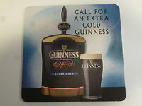 Beer Breweriana Coaster ~ Call for an Extra Cold GUINNESS Stout; Coldflow System