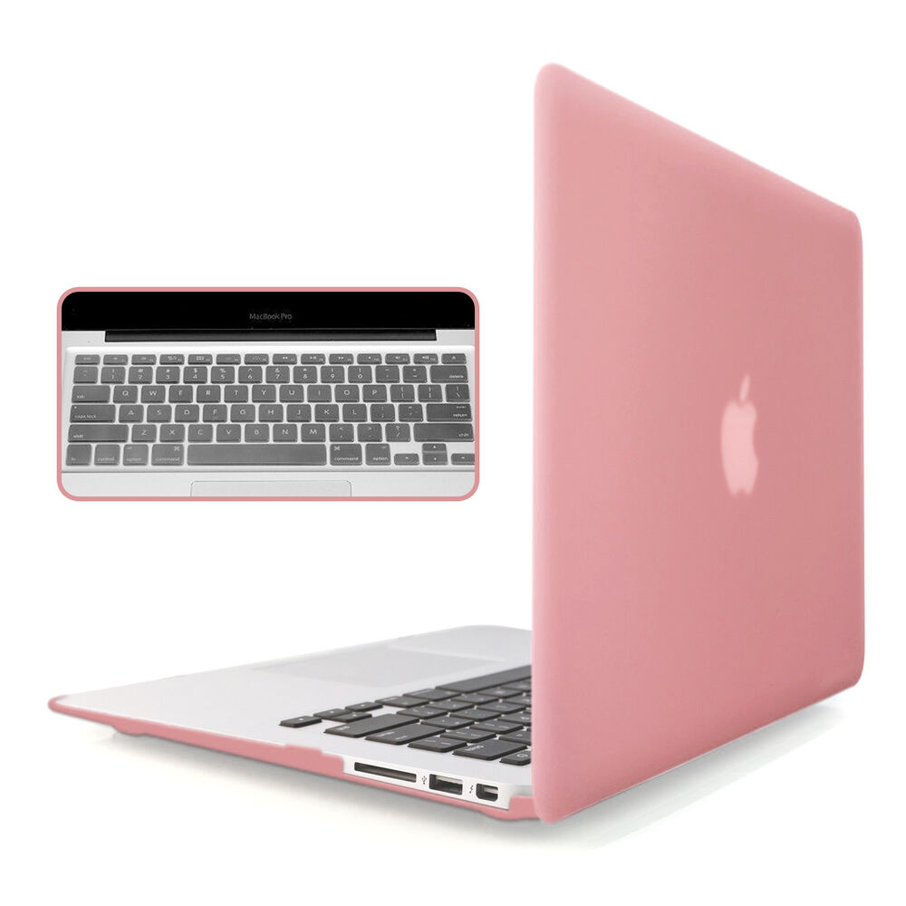 rose gold rubberized case keyboard cover for macbook air pro retina 11 12 13 15 ebay. Black Bedroom Furniture Sets. Home Design Ideas