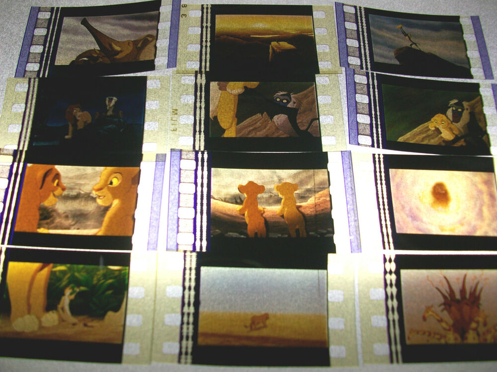 lion king film cell lot of 12
