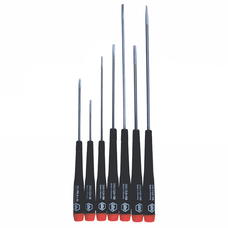 wiha 26092 7 piece longer reach precision screwdriver set ebay. Black Bedroom Furniture Sets. Home Design Ideas