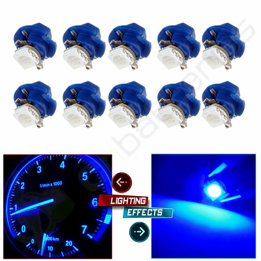 For Bmw E38 E39 E53 Instrument Cluster Backlight Replacement Bulb 10x Blue B8 4d Ebay