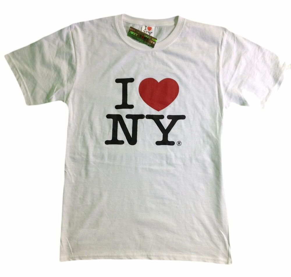 I love ny new york short sleeve screen print heart t shirt for Where can i screen print t shirts