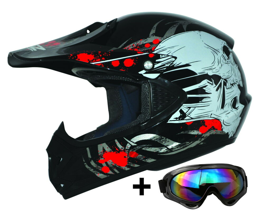 kids pro kinder motocross helm enduro brille motorradhelm ato mx crossbrille ebay. Black Bedroom Furniture Sets. Home Design Ideas