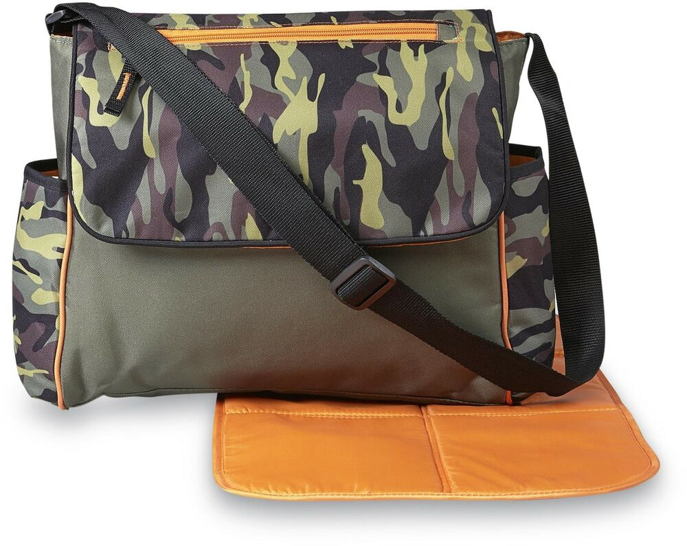 baby boy girl diaper bag portable changing pad travel tote pocket organizer camo ebay. Black Bedroom Furniture Sets. Home Design Ideas