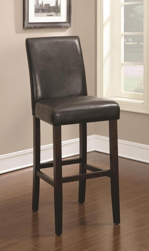 Dark Brown 9 Quot Seat Height Parson Bar Stool Chair By