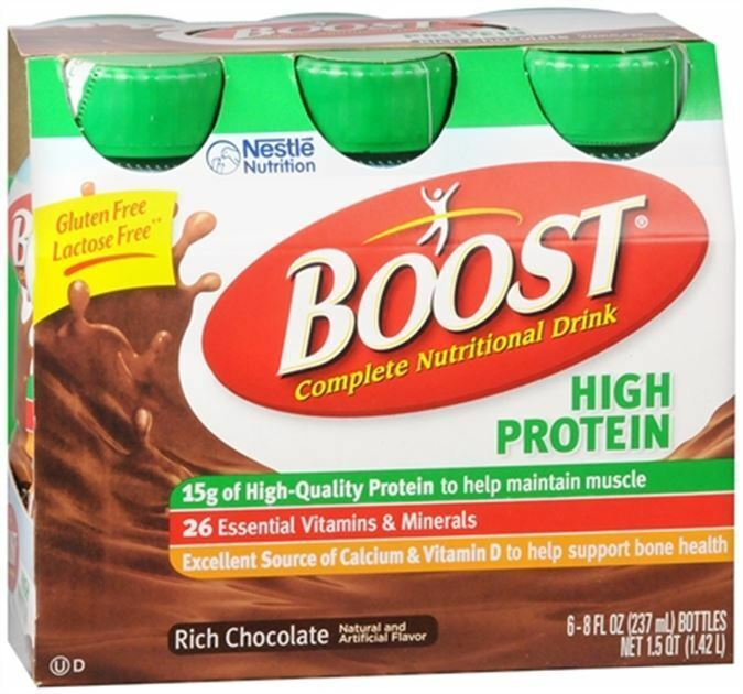 Boost High Protein Nutritional Energy Drink Strawberry 6: BOOST High Protein Nutritional Energy Drinks Chocolate 48