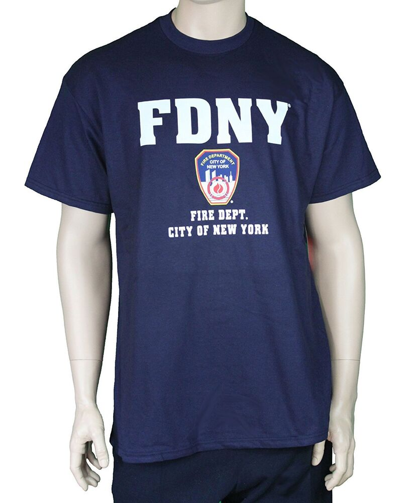 Fdny short sleeve with rescue print on back t shirt navy for T shirt screen printing nyc