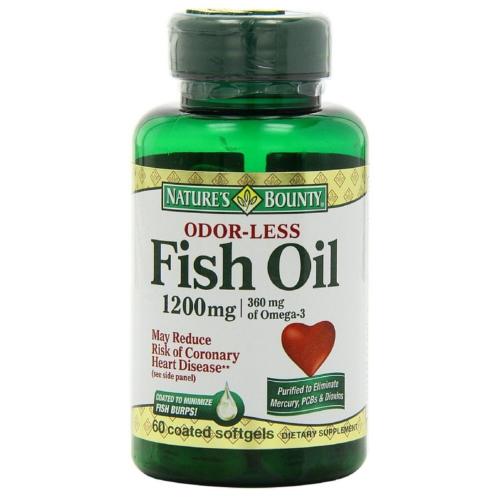 Nature 39 s bounty omega 3 fish oil 1200 mg softgels odorless for What is omega 3 fish oil good for