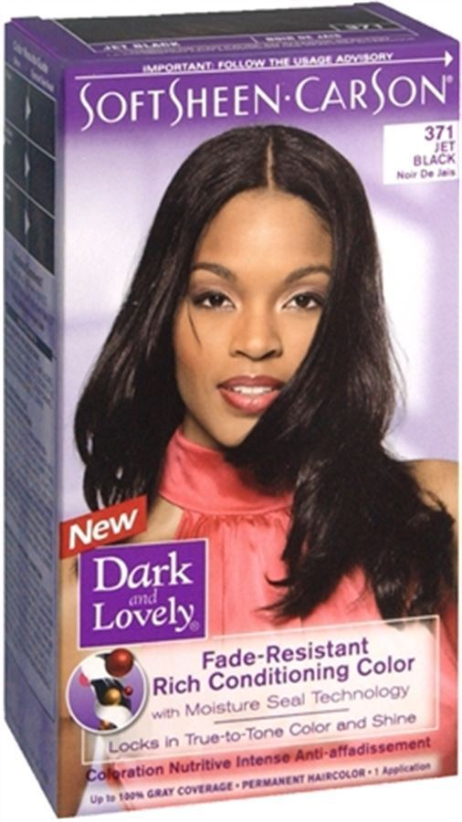 Dark And Lovely Permanent Hair Color 371 Jet Black 1 Each  EBay