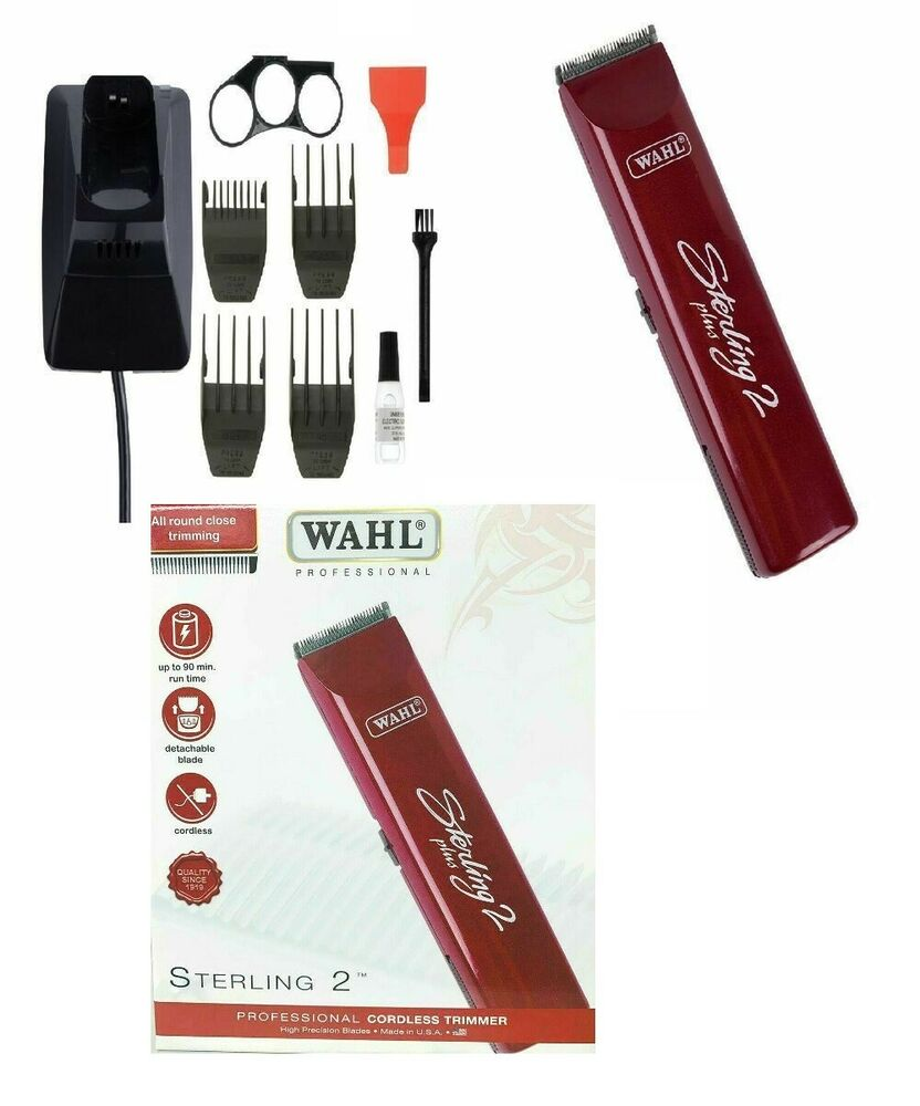 wahl sterling 2 plus 5 professional rechargeable cordless trimmer ebay. Black Bedroom Furniture Sets. Home Design Ideas