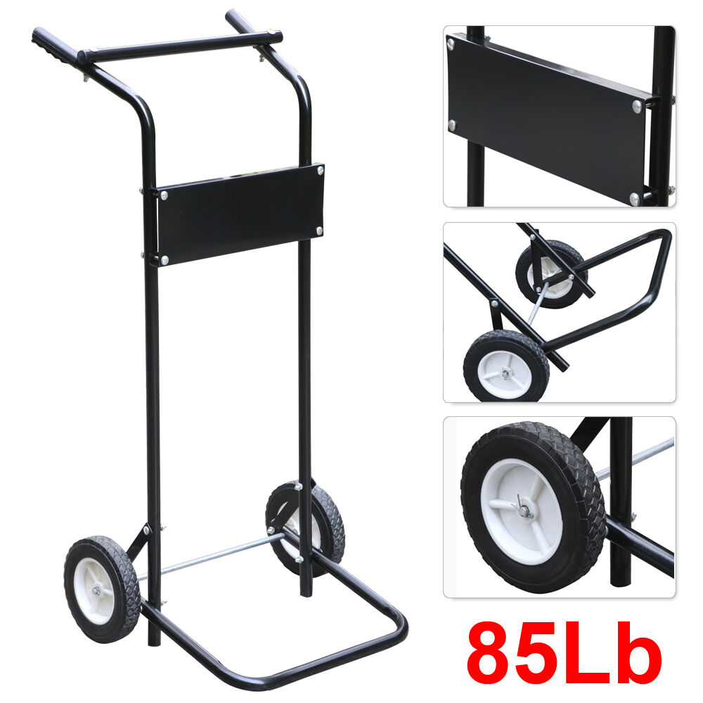 85lb Pro 15hp Outboard Boat Motor Stand Carrier Cart Dolly