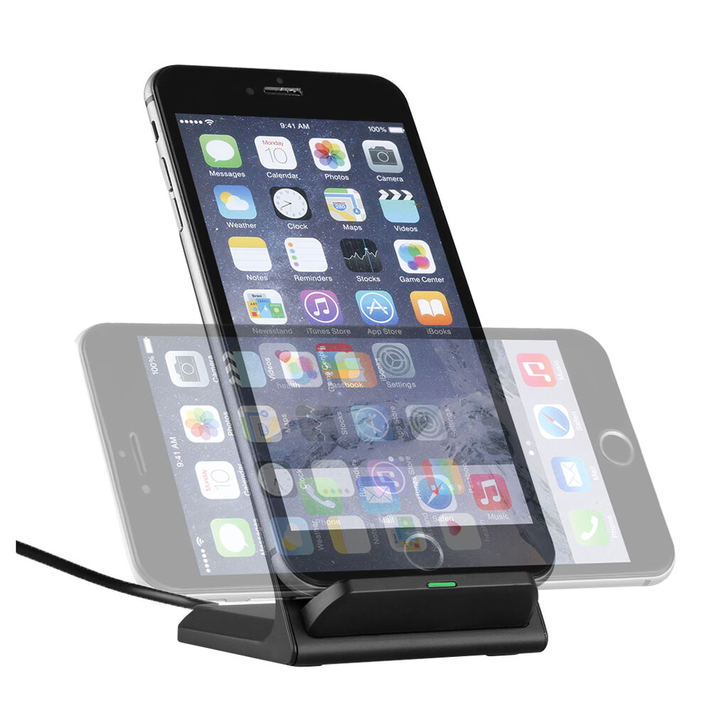 3 coils qi wireless fast charger charging dock stand holder for iphone samsung ebay. Black Bedroom Furniture Sets. Home Design Ideas