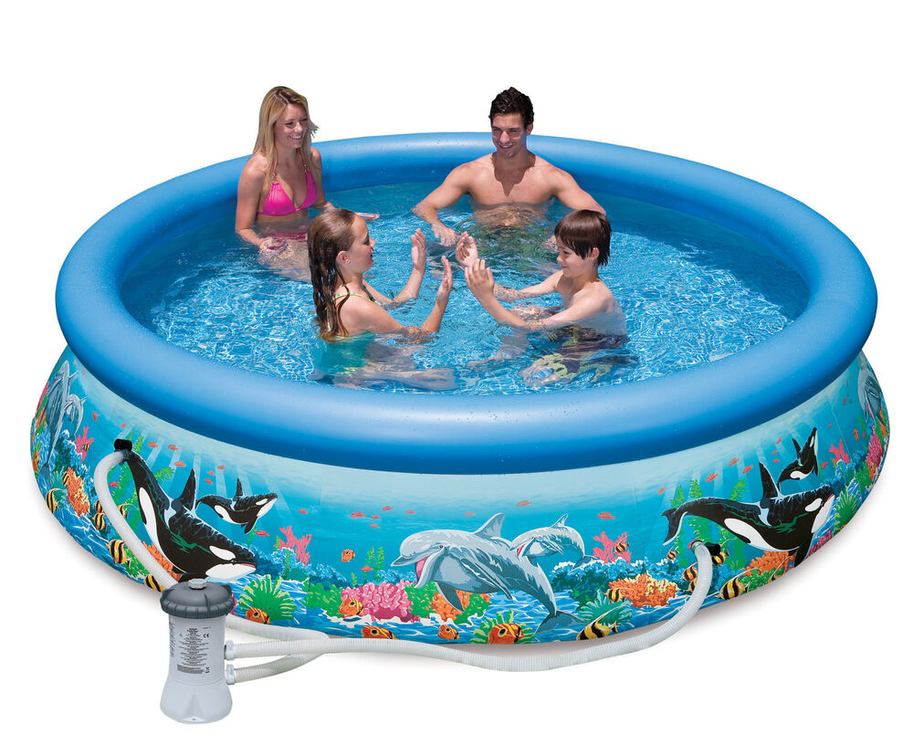 Intex 10 39 x 30 easy set kids inflatable above ground for Inflatable above ground pools