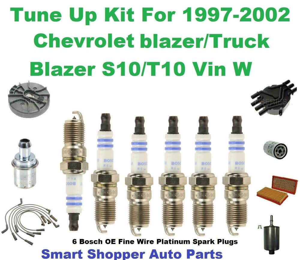 Tune Up Parts List : Tune up kit for  chevrolet blazer s t