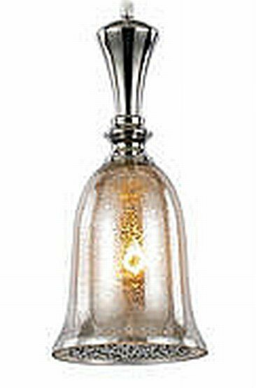 14 Quot Polished Satin Nickel Mercury Glass Mini Pendant Light